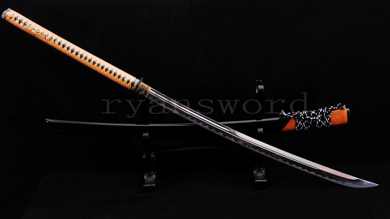Naginata Japanese Sword 1095 Carbon Steel Rayskin Saya--Ryan821