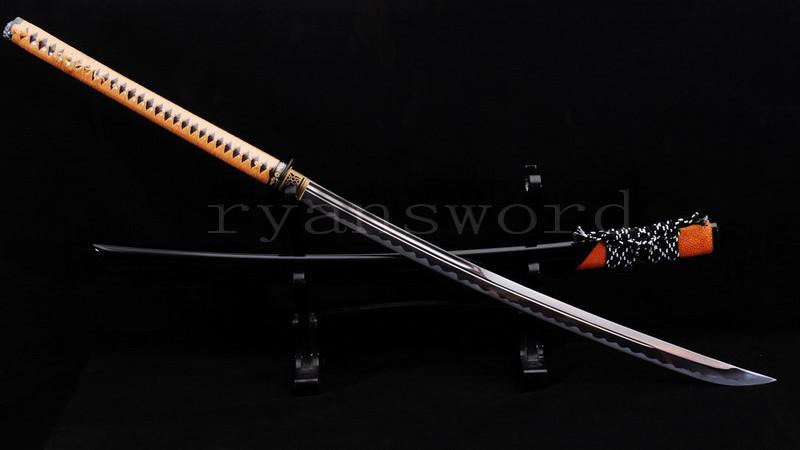 Unokubi-Zukuri Blade No-Dachi Japanese Sword 1095 Carbon Steel Rayskin Saya--Ryan821