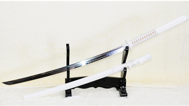 Bleach Sode No Shirayuki's Katana Japanese Sword Honsanmai Clay Tempered Mirrorlike Blade--Ryan848