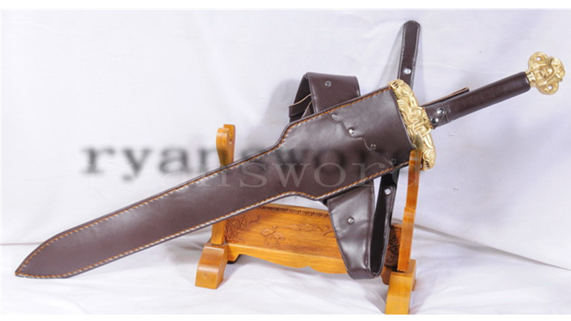 Conan Destroyer Handmade Claymore Sword Carbon Steel Strong Blade Heavy Cutting--Ryan852