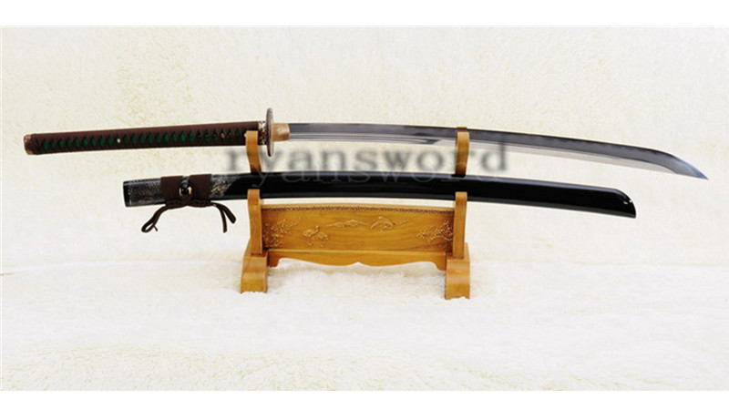Naginata Japanese Sword Shihozume Clay Tempered Unokubi-Zukuri Blade Ryaskin Saya--Ryan872