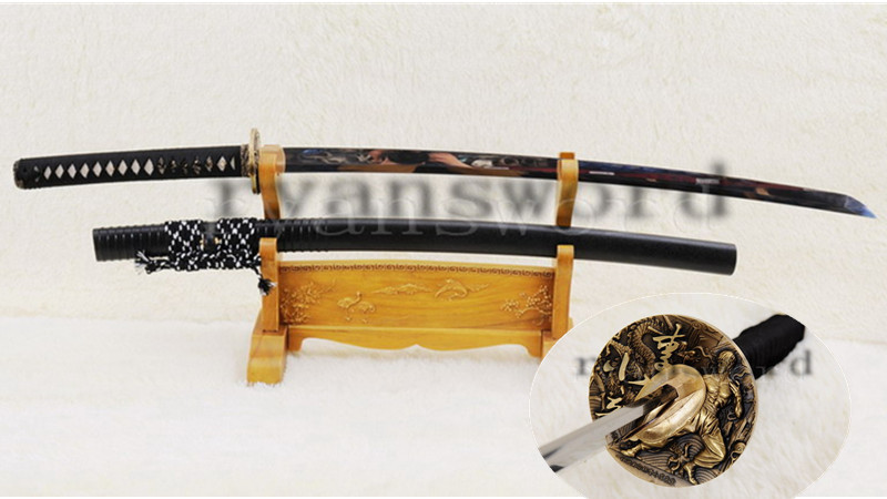 Japanese Sword Katana Razor Sharp Mirrorlike Light Blade Bruce Lee Copper Tsuba Heavy Cutting--Ryan876