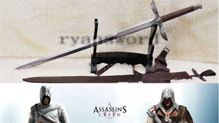 ASSASSINS CREED Altair European Claymore Long Sword 47