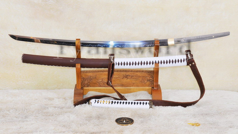 Walking Dead Sword-Michonne's Katana Zombie Killer-1095 Carbon Steel Clay Tempered--Ryan897