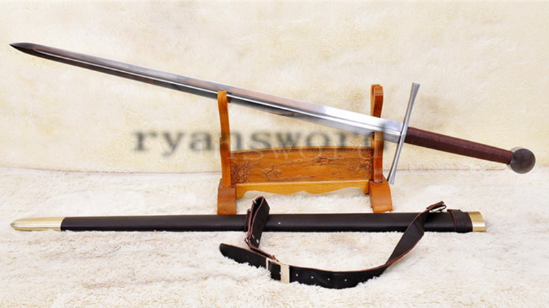 European Medieval Claymore Long Sword-1095 Carbon Steel-Handmade Functional--Ryan899