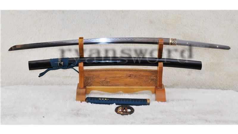 Clay Tempered Katana Japanese Samurai Sword 1095 Steel Tiger Tsuba Full Tang--Ryan905