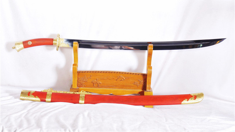 Yanling Qing Dao Chinese Sword 1095 High Carbon Steel Blade Brass Fittings--rsd415