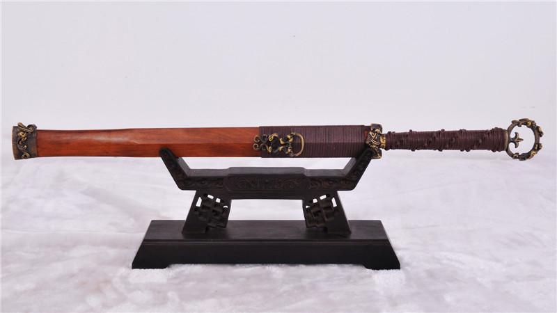 Ring-Pommel Dao Handmade Chinese Sword Double Edge Brass Fittings--rsj206