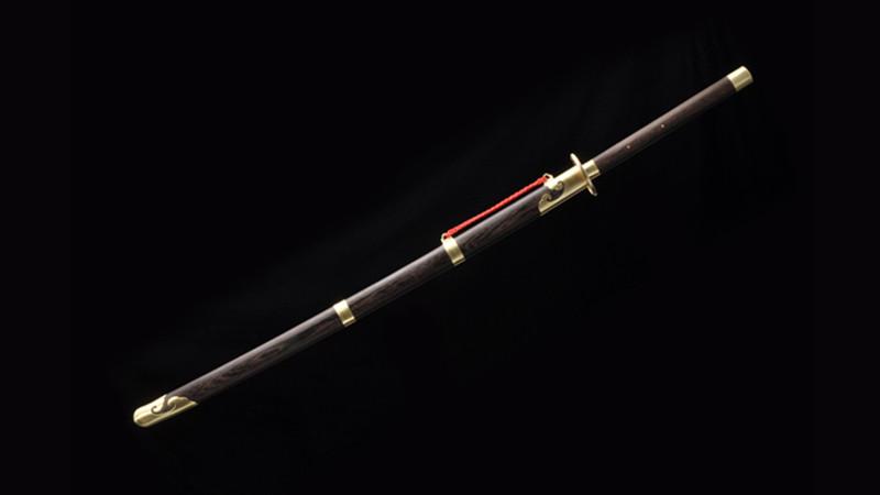 Qian Kun Miao Dao Chinese Sword Brass Fittings Rosewood Scabbard--sgl9020