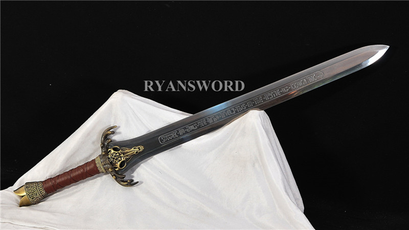 Handmade Conan Father's Sword 1095 High Carbon Steel Alloy Handguard--Ryan1359
